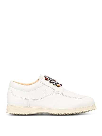 aa3b3850c0e8d Hogan Traditional lace up Sneakers Bianco Donna 35½  Amazon.co.uk ...
