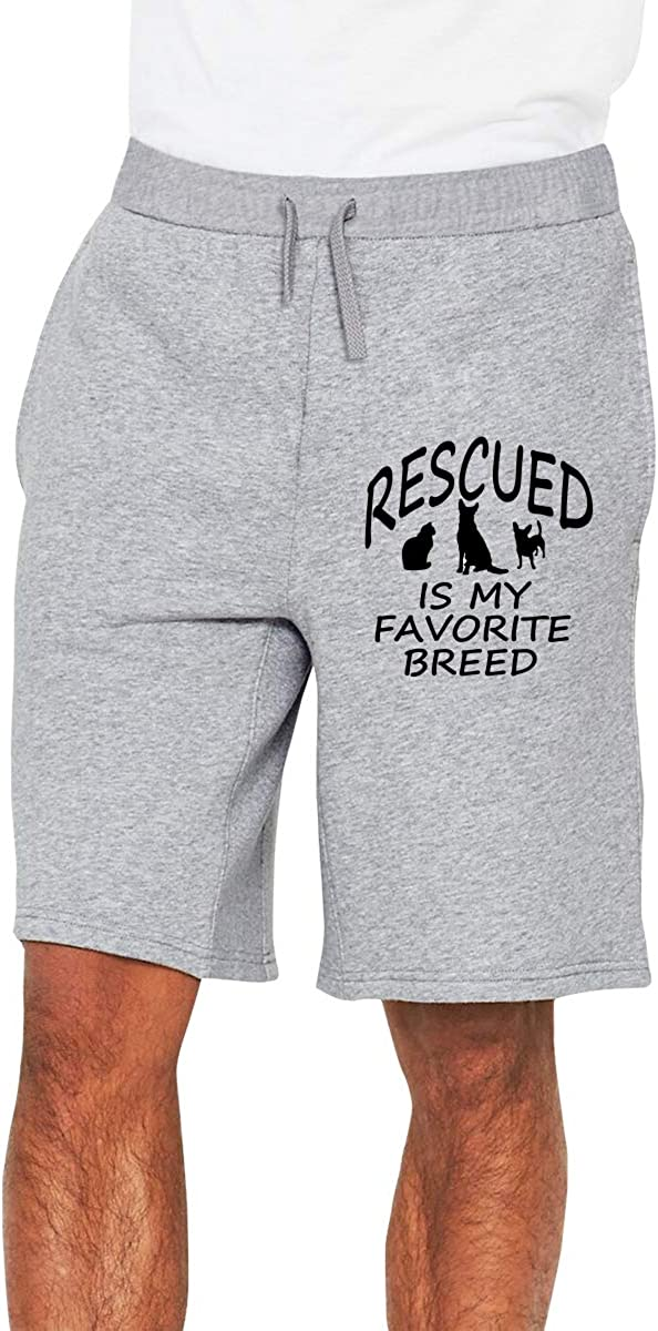 My Favorite Breed is Rescued Mens Shorts Mens Beach Shorts