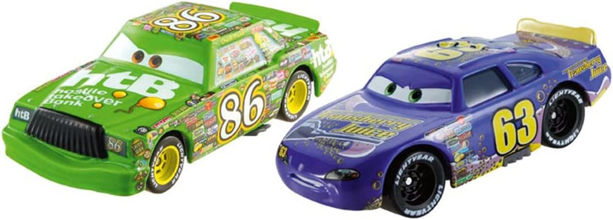 Mattel Cars - Pack 2 Coches Cars - Chick Hicks y Transberry Juice ...