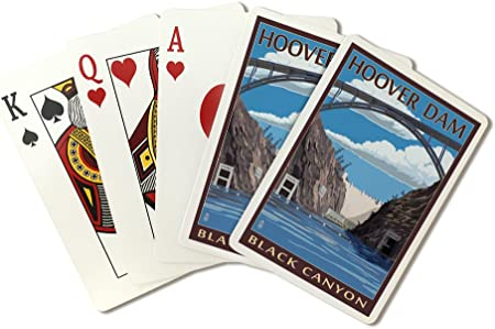 Amazon Com Hoover Dam Black Canyon Playing Card Deck 52 Card Poker Size With Jokers Everything Else
