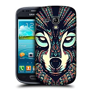 AIYAYA Samsung Case Designs Wolf Aztec Animal Faces Protective Snap-on Hard Back Case Cover for Samsung Galaxy S3 III mini I8190 by supermalls