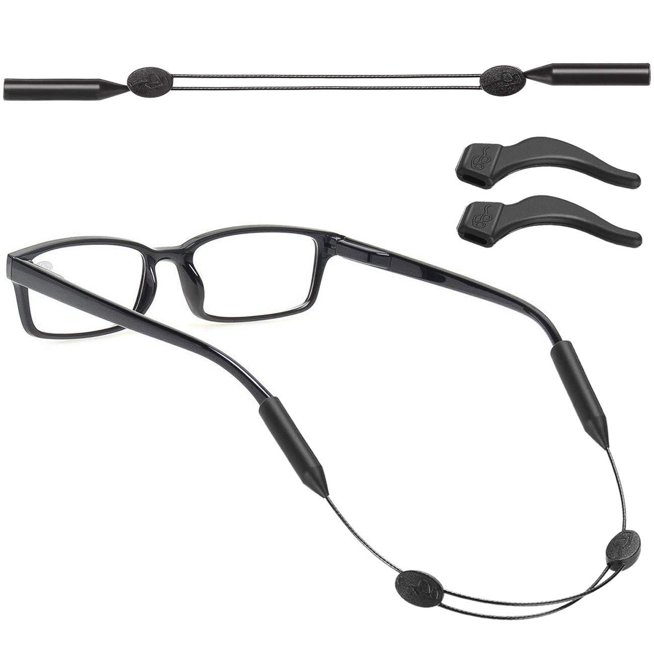 LovYu 眼鏡リテーナー 調節可能なスポーツサングラスホルダーストラップ 大人&子供用 ユニバーサルメガネ保持ホルダーシステム ハンティング&サイクリング ランニング 釣り ゴルフ キャンプ 野球用 B07H1X5LJY for adults