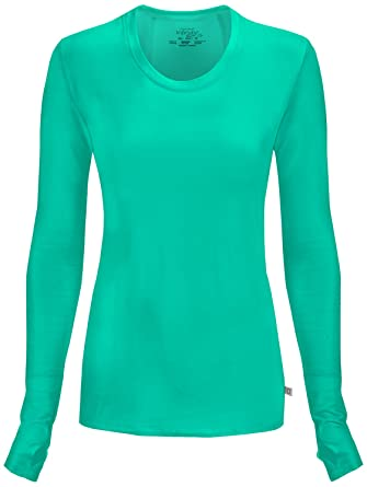Amazon.com: Cherokee Women's Infinity Long Sleeve Knit Underscrub ...