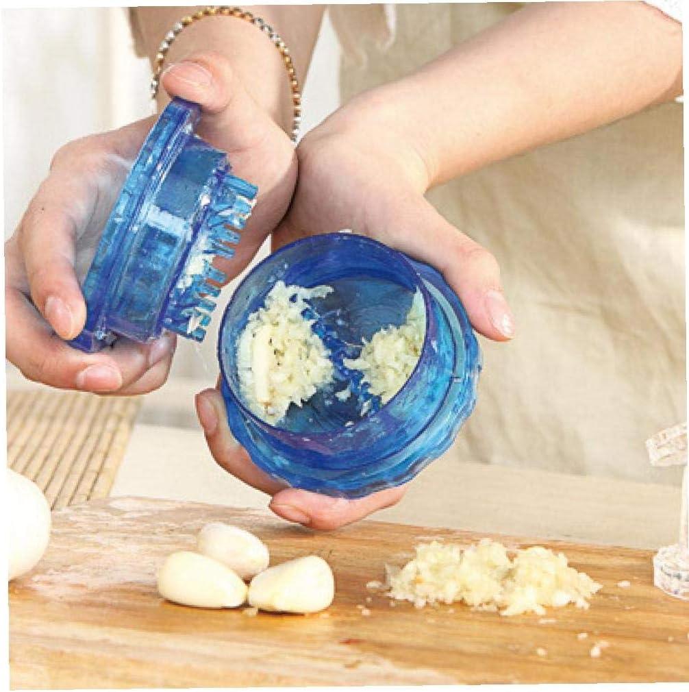 1pc Cocina Molino trituradora del ajo Jengibre Dispositivo multifunción Prensa de ajo pelador de ajos Color al Azar
