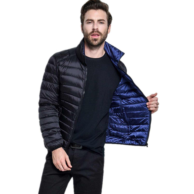 Lixinsunbu Mens Double-Sided Outwear Lightweight Winter Packable Down Jacket