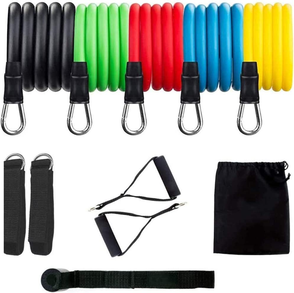 Micshion Resistance Bands Set for Women Men Exercise Bands with Handles, Training Tubes with Door Anchor & Ankle Straps Home Workouts,Physical Therapy,Gym Training,Yoga