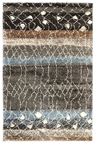 61XHp Q%2BtUL - Mohawk Home Huxley Adobe Abstract Woven Shag Area Rug, 5' x 8', Multicolor