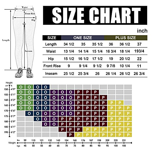 High Waisted Leggings for Women - Ultra Soft Stretchy Workout Pants – Reg/Plus Size (Ink Pattern, Plus Size (12-24)) by Syrinx (Image #4)