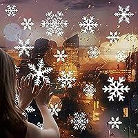 ShineBlue 2 feuilles Noël Nouvel An Magasin Fenêtre PVC Sticker Mural Décorations De Noël De Noël Accueil Decal Décoration De Noël pour Fournitures Pour La Maison Christmas Stickers for kids 35*50cm 56pcs