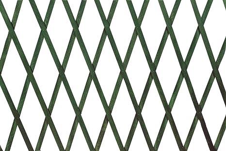 Steccato Estensibile Giardino : Verdelook traliccio estensibile in legno verde dimensioni