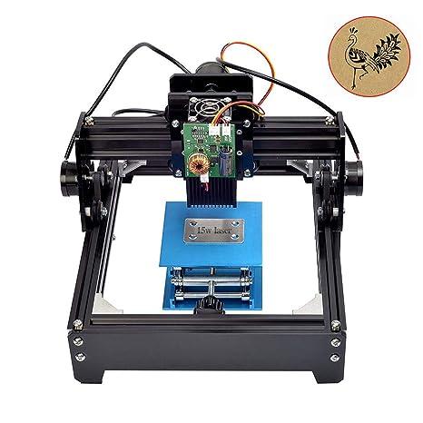 HUKOER 15W USB Mini Máquina de grabado láser portátil Máquina de marcado de metal Logotipo Impresora Máquina de corte ...