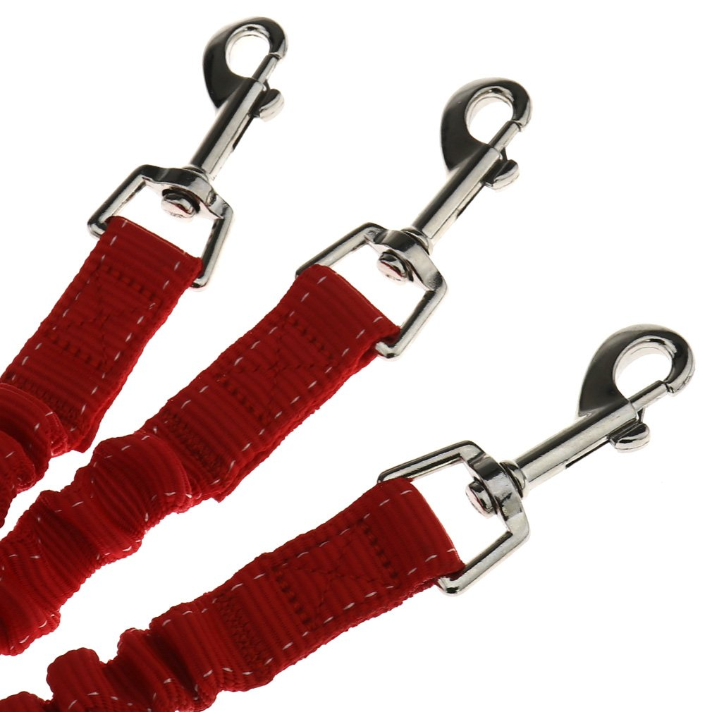 Cuerda Divisor Rojo de 3 v/ías Emma Triple acoplador para Mascota Correa el/ástica para pasear a Perro