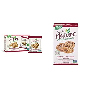 Back to Nature Cookies, Non-GMO Mini Chocolate Chunk, 6 Count & Cookies, Non-GMO Chocolate Chunk, 9.5 Ounce (Packaging May Vary)