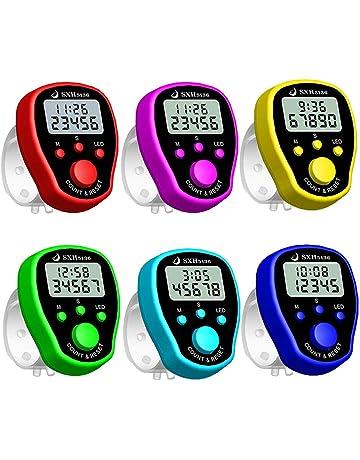 5 ledes Digitales Forma de Diamante 107mm x 14mm x 35mm Contador electr/ónico de Dedos Contador mec/ánico Manual 10 Unidades Contador de regazos COCOCITY Contadores de Dedos