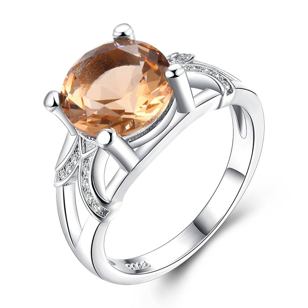 Impression 1pcs Anelli Anello rotondo di cristallo anello di diamanti di moda anello di vetro Girl Accessori della gioielli festa di San Valentino regali di matrimonio anello aperto YXYP YXFR252