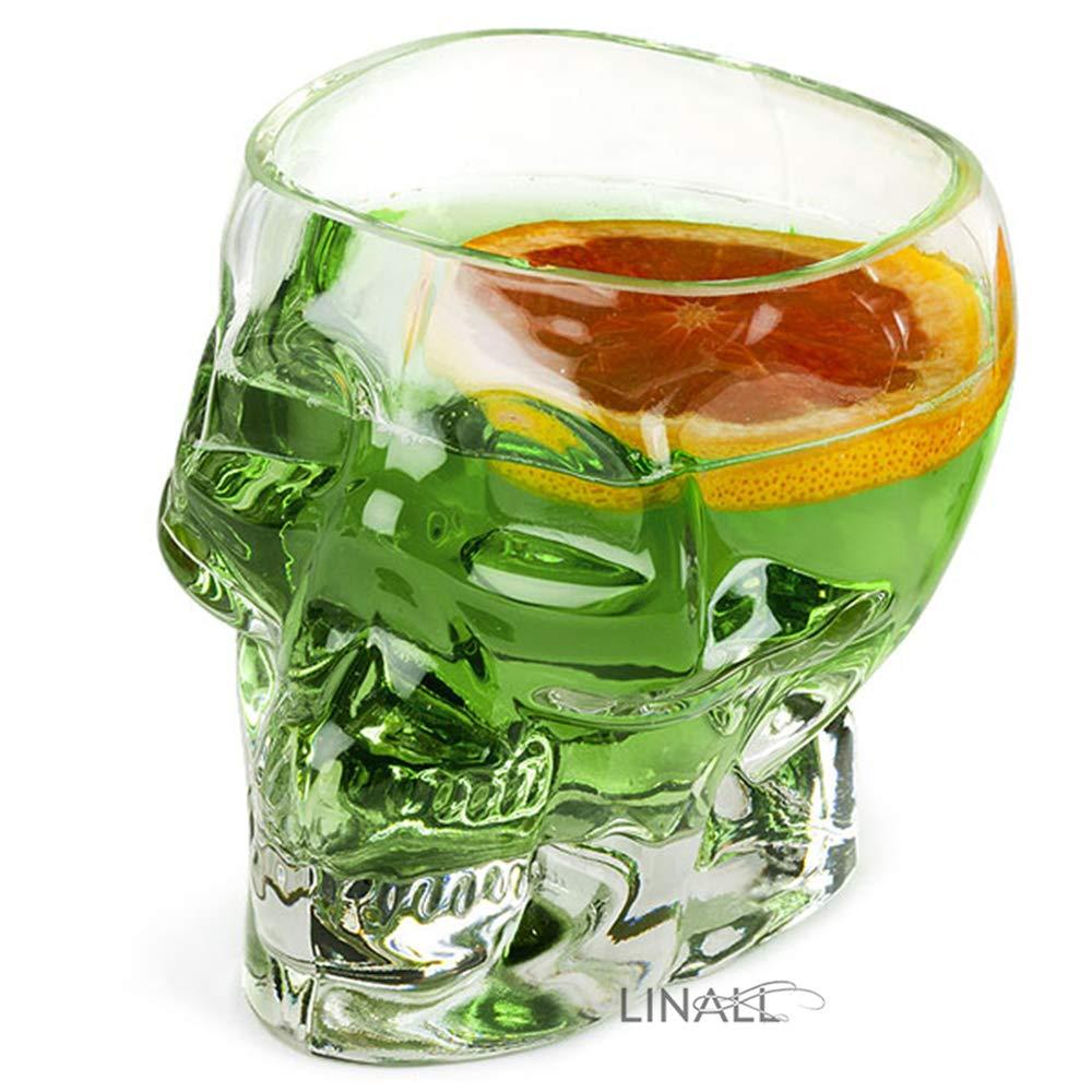 1 Glass Mug For Coffee And Tea 700ml// 23oz TIKI0007 Tiki Skull Mugs