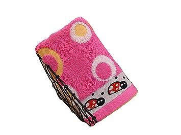 Juguete de baño divertido Bordado de dibujos animados Kid Wash Toalla para la cara Toalla de baño absorbente para niños (Rosy) Para bebé: Amazon.es: Bebé