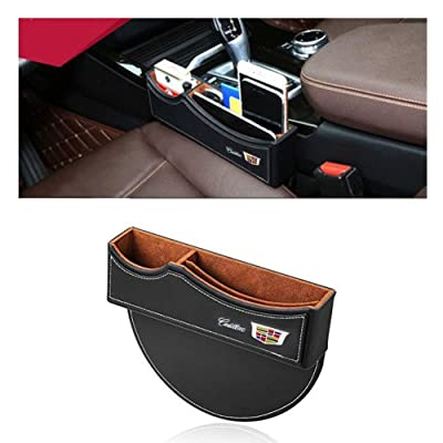 DEFTEN Car Seat Gap Filler Premium PU Full Leather Seat Console Organizer, Car Seat Storage Box for Cadillac XT6 XT5 XT4 CT6 CT5 XTS CTS ATS SLS Escalade (Black) (1-Pack): Automotive