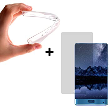 BeCool® - {Magic Pack} Funda Carcasa Gel FLexible TPU transparente para Doogee Mix + Protector de Pantalla Cristal Vidrio Templado Premium.