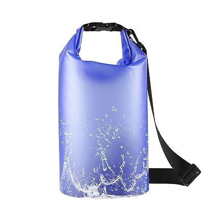 HAISSKY Bolsa Estanca 3L Bolsa Seca Impermeable, Premium Bolsa estanca Impermeable Seca PVC para Playa Rafting Navegación Kayak Bucear Canotaje ...