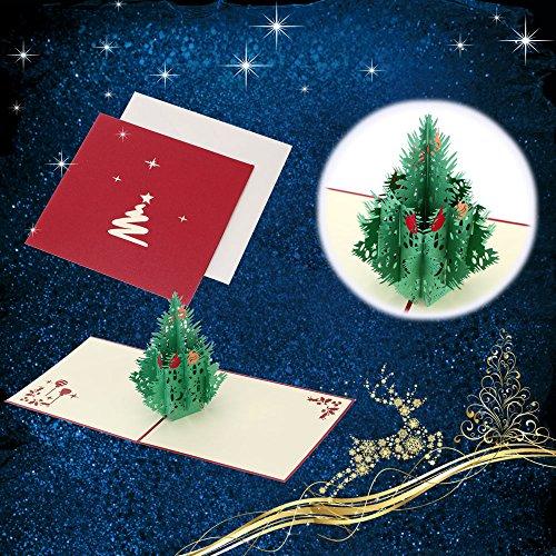 Addobbi Natalizi 3d.Adornos De Navidad 3d Christmas Card Enfeite De Natal Greeting