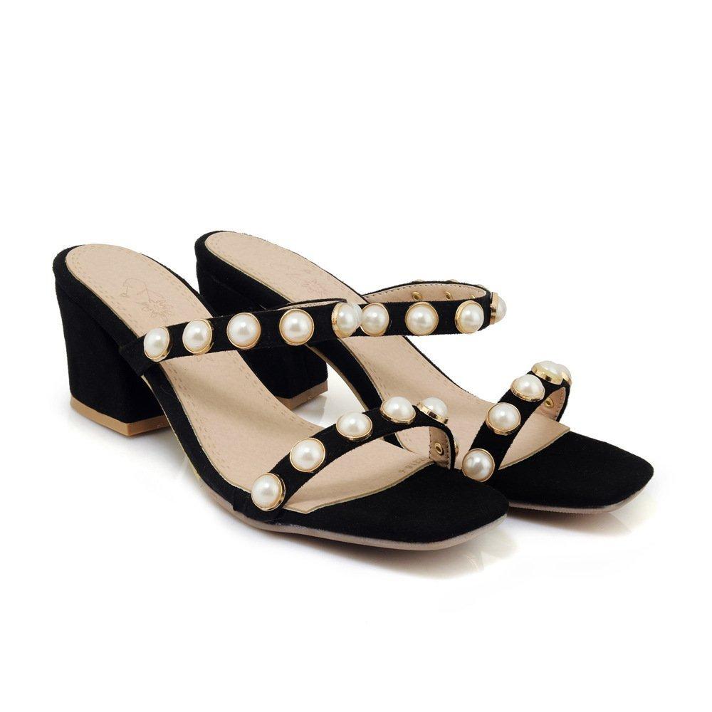 Sandales pour Femmes, Noir Talons Hauts, Femmes, Pantoufles pour Noir 81e954f - gis9ma7le.space