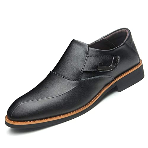 JIALUN-Zapatos Mocasines para Hombres Slip-on Oxford con Detalle de aleación Premium de