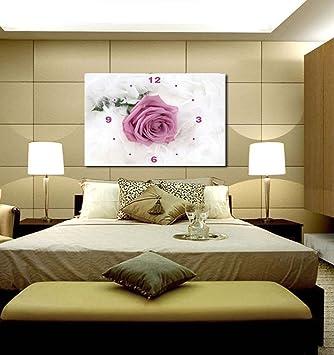 Leinwand-Wanduhr Rose Einzelne Schlafzimmer dekorative Malerei ...
