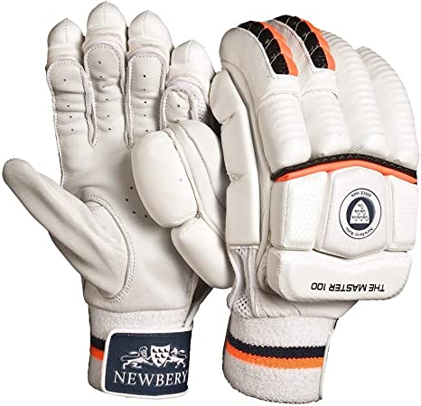 Newbery Cricket Baby Force Batting Pads White//Orange Mini Junior