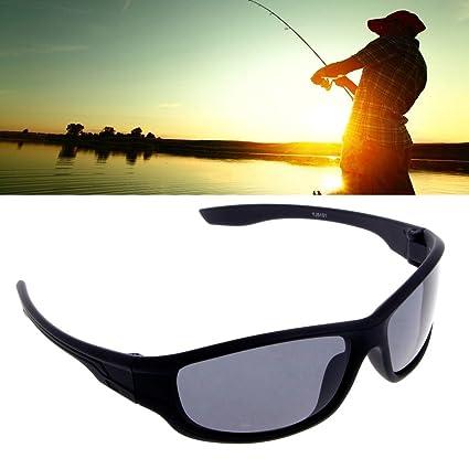 Jiamins Gafas de Sol Gafas de Hombre polarizadas, Negro Gafas Graduadas de Sol polarizadas para