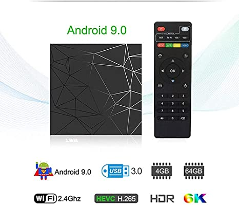 Android TV Caja, Android 9.0 TV Caja 4 GB De RAM/ROM 64GB H6 Quad ...