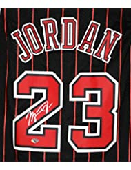 Michael Jordan Chicago Bulls Signed Autographed Black Pinstripe #23 Jersey