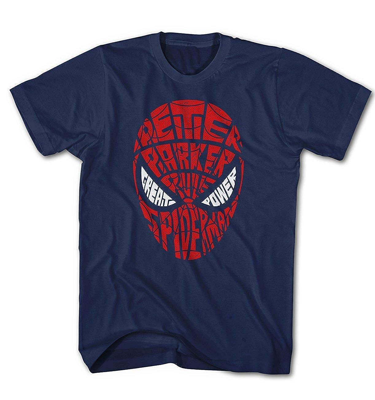 Monkey Print Kinder T-Shirt Fun Peter Spiderman Parker Text Art