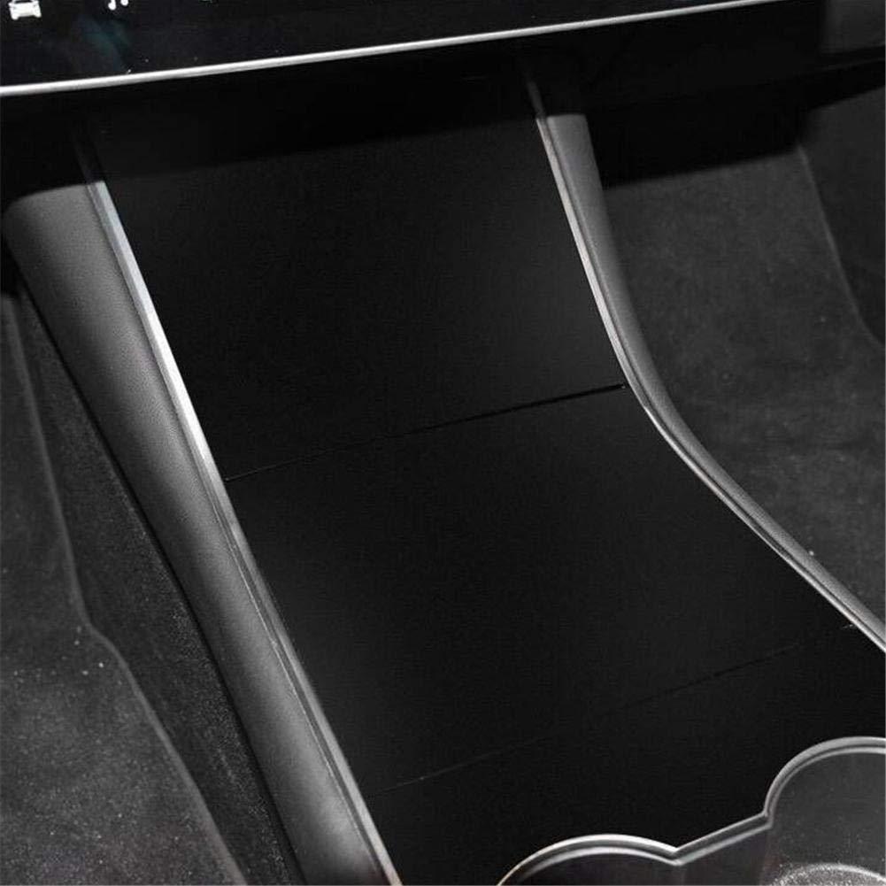 Mittelkonsole Wrap Kit Aufkleber Carbon Armlehne Box Bedienfeld Dekorationsschutzfolie f/ür Tesla Modell 3