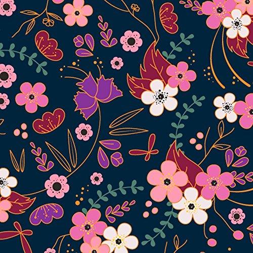 Oakiwear Kids Rubber Rain Boots, Midnight Floral, 4Y US Big Kid by Oakiwear (Image #1)