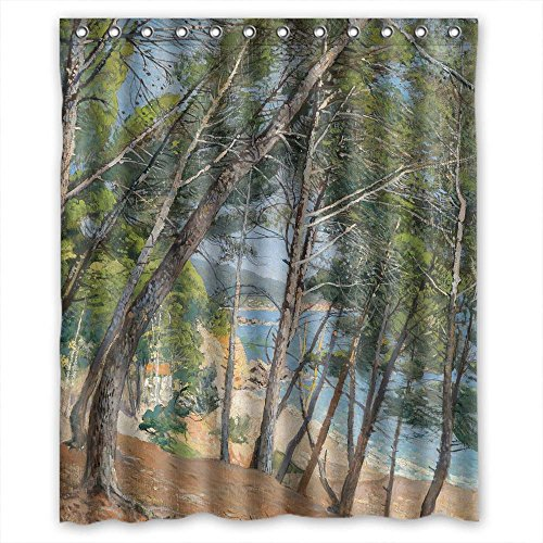 Eyeselect Width X Height / 60 X 72 Inches / W H 150 By 180 Cm Polyester Beautiful Scenery Landscape Art Painting Bathroom Curtains Fabric Is Fit For Relatives Girls Valentine Mother. Hea