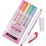 Zebra Mildliner Soft Color Double-Sided Highlighter Pens Deep, Warm & Cool (Pink Pack)