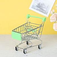 JIDAFANG-US 1 Pcs Mini Supermarket Handcart,Mini Shopping Utility Cart Storage Toy Supermarket Handcart Trolley Kid's…
