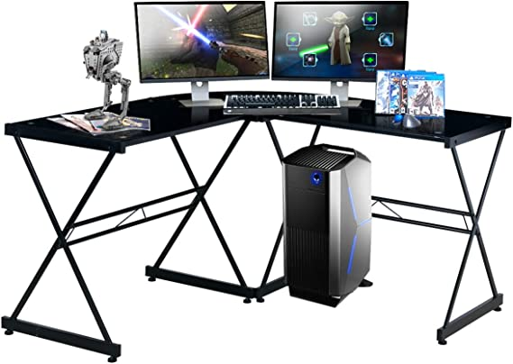 TECHNI SPORT Gaming Desk Collection Rigel Bk - L-Shaped Gaming Desk