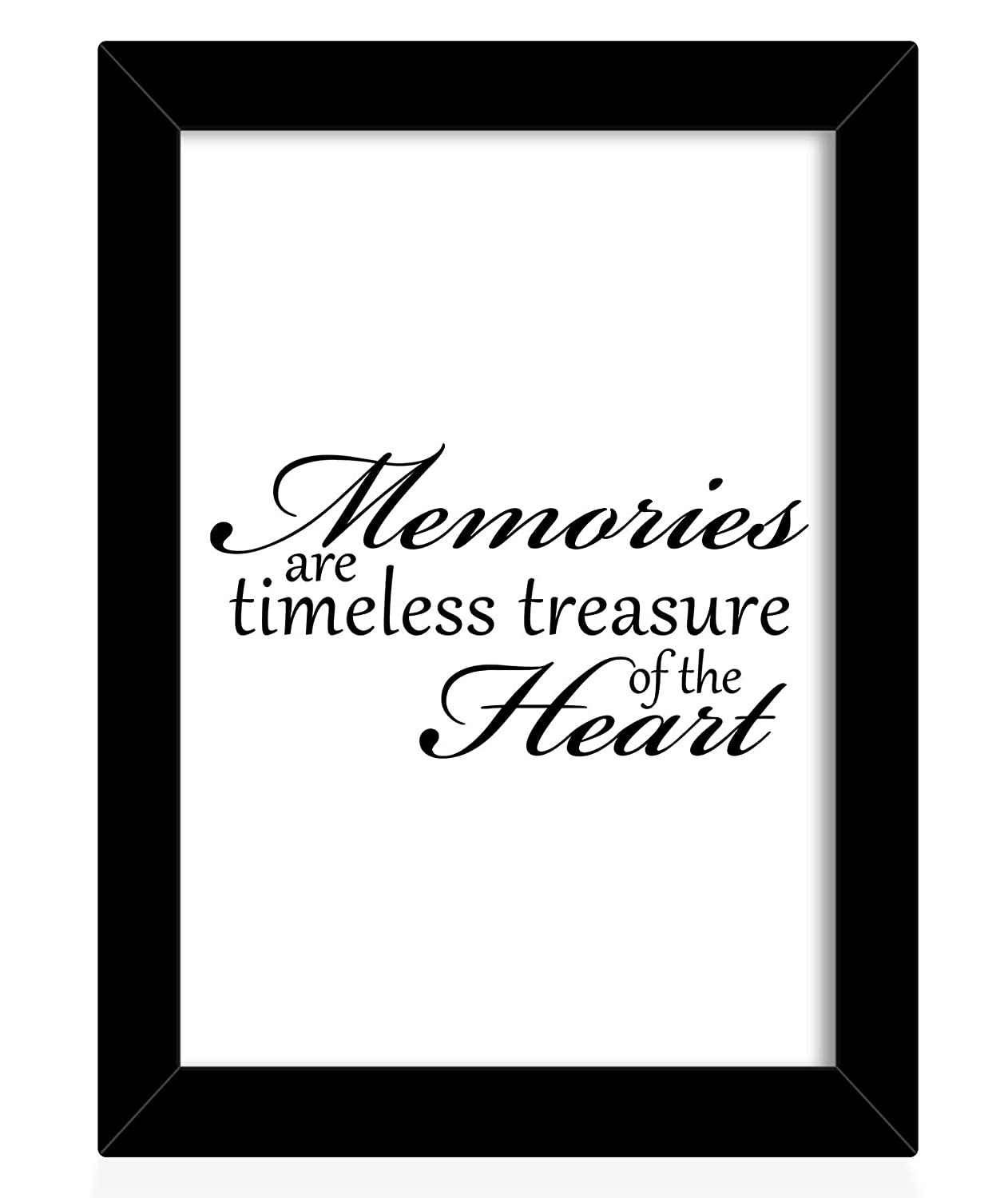 tied ribbons memories are timeless treasure of the heart printed