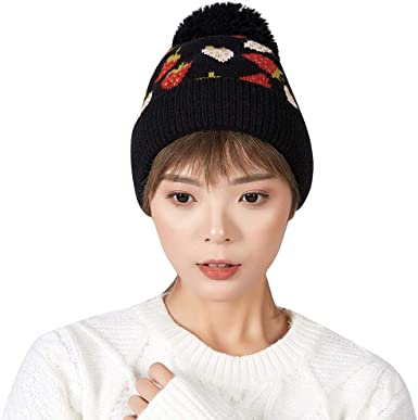 MONISE Women Winter Knit Beanie Hat Ladies Fashion Knitted Cap Headband
