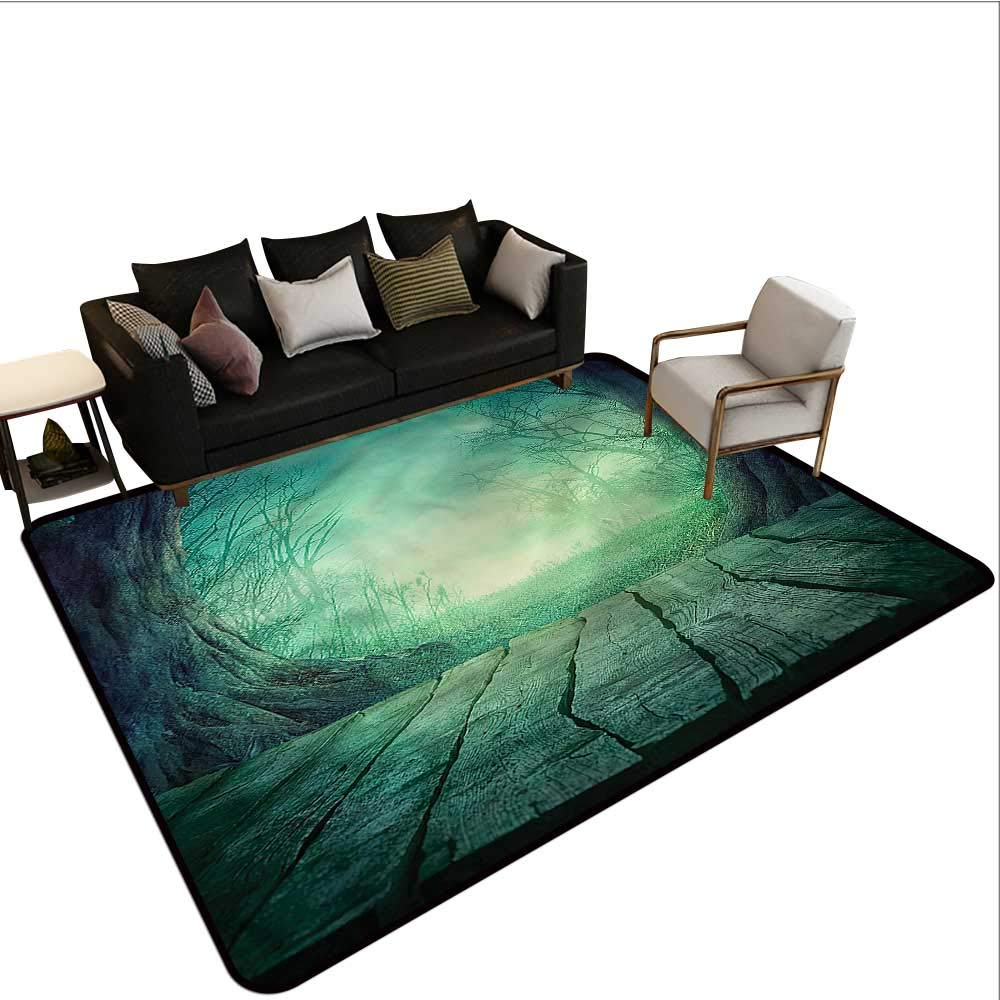 """Gothic,Floor Mat Home Decoration Supplies 60""""x 96"""" Foggy Forest with Dead Trees Kitchen Rugs 61XHzIk-f%2BL"""