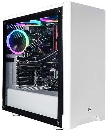 CUK Sentinel White Gaming PC (Liquid Cooled Intel i9-9900K, 32GB RAM, 1TB  NVMe SSD+ 2TB HDD, NVIDIA GeForce RTX 2080 Ti 11GB, 750W Gold PSU, Windows