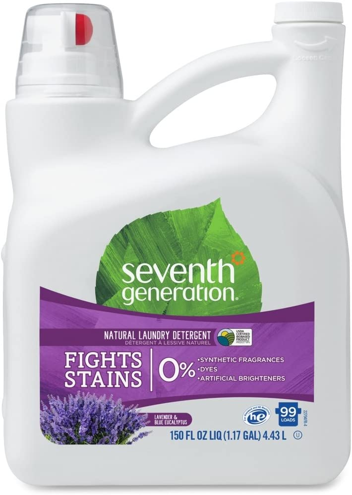 Seventh Generation Natural Liquid Laundry Detergent, 1.17Gal, Lavender, CL