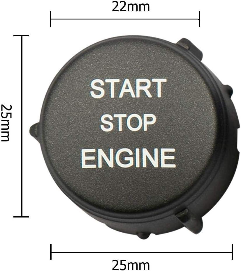 nero Yanten Start Stop Pulsante motore Sostituisci coperchio per Land Rover Freelander 2