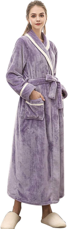 Landove Accappatoio Coppia Uomo Donna Coperta Morbida Flanella Vestaglia Adulto Caldo Pigiama Kimono da Notte Vestaglie Lunghe Invernale in Pile Poncho Bathrobe Nightgown Sleepsuit