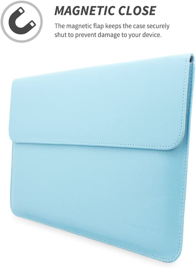 for Apple MacBook Air 13 and MacBook Pro 13 with Retina Leather Sleeve Cover Snugg/™ MacBook Air 13 // Pro 13 Case Baby Blue
