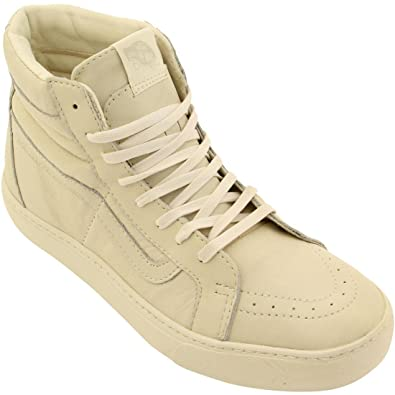 ace214ffc56f Vans Men Sk8-Hi Cup CA - Leather (White Whisper White) Size