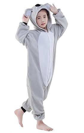 Cute Kigurumi Animal Kid Koala Onesie Pajamas for Teen Boy & Girl Costume Cosplay Outfit 85