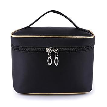 Maquillage Portable Sac Organisateur Voyage sac cosmétique avec miroir Noir WRxBFuUB